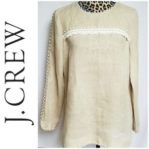*SALE!* J. Crew Linen Long Sleeve Blouse
